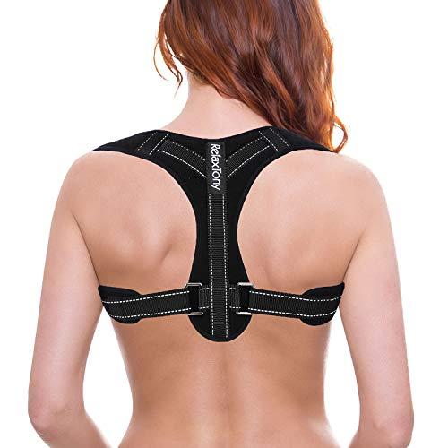 Posture Corrector for Women | Adjustable Back Brace Posture Corrector | Under Clothes Upper Back & Spine Support | Back Straightener Posture Corrector