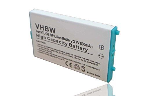 vhbw Li-Ion batteria 800mAh (3.7V) per console di gioco Nintendo Gameboy Advance (GBA) Special SP AGS-001, AGS-003, AGS-101 come Nintendo SAM-SPRBP