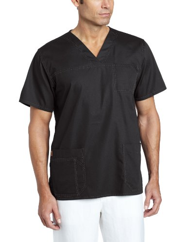 Carhartt Men's Ripstop Multi Pocket Scrub Top, Black, X-Large