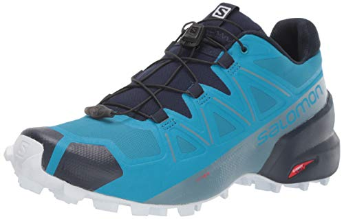 SALOMON Herren Speedcross 5 Trail Laufschuhe, Fjord Blue/Navy Blazer/Illusion Blue, 42 EU