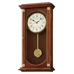 Seiko Rectangular Wall Clock with Pendulum and Dual Chimes