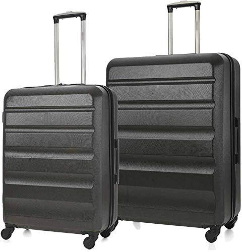 Maleta rígida ligera, maleta de 4 ruedas, maniobrabilidad de 360 grados asa telescópica,Moyen Grand