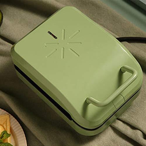 YXIAOJ Gaufrier-Anti-adhésif Revêtement de Profondeur Plate-température de Cuisson de contrôle-Douce à la Maison Gaufrier-600W (Color : Green)