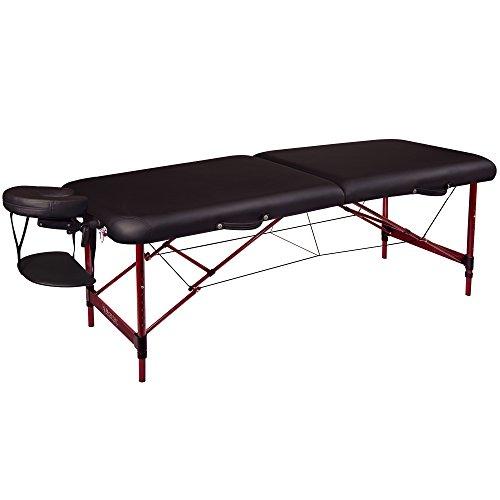 Master masaje 76cm Roma cama sofá mesa de masaje portátil paquete en negro w/caoba