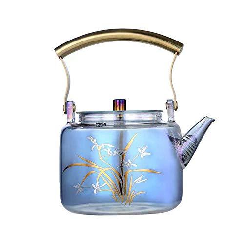 Teekocher 900ML Tea Maker Glas Teekoche Teekocher mit Warmhaltefunktion Teekocher Glas Verdickter hochtemperaturbeständiger Wasserkocher