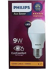 Philips E27 9-Watt LED Bulb (Warm White/Golden Yellow)