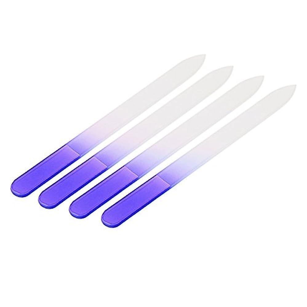 算術延ばす一瞬4pcs Nail Files Crystal Glass File Buffer Manicure Device Nail Art Decorations Tool