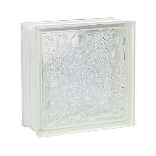 Fuchs Design 5 Stück Glassteine Savona Klar glänzend 24x24x8 cm