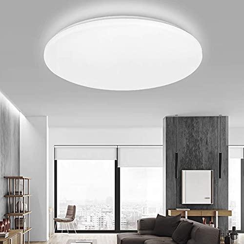 LED Lámpara de Techo Moderna, Blanco Frío 6000K LED Plafón, Ultra Delgado 5CM Luz de Techo para Dormitorio Cocina Pasillo Comedor Sala [Clase de eficiencia energética A+], 24 W