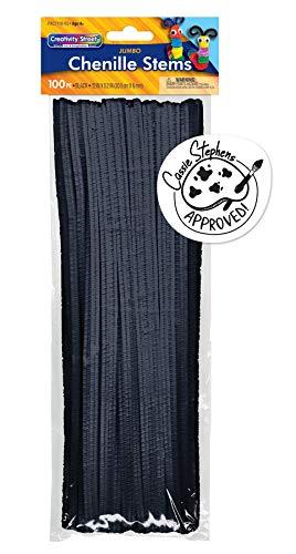 Creativity Street Jumbo Bendable Stem, 12-in. x 6-mm, Black 600 per Bag