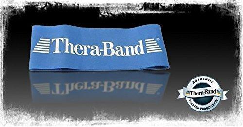 Thera Band Loop Übungsband Fintessband Gymnastikband, ø 13 cm extra stark BLAU
