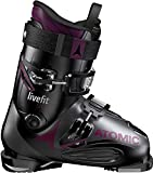 Atomic Live Fit 90 Ski Boots Womens Sz 8/8.5 (25/25.5) Black/Anthracite/Purple