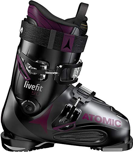 Atomic Damen ABO ATO All Mtain Inl Schneestiefel, Schwarz (Black/Anthracite/Purple 000), 37/38 EU