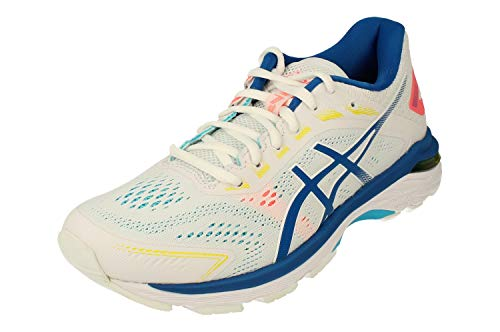 Asics GT-2000 7 Mujeres Running Trainers 1012A147 Sneakers Zapatos (UK 4 US 6 EU 37, White Lake Drive 100)