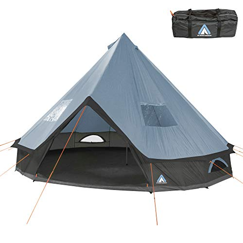 10T Outdoor Equipment Mixte - Adulte Camping Tente Mojave 400 Arona XXL Tipi Tente Ronde étanche...