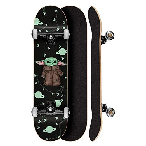 """Skate Montado Profissional Cisco Feminino Yoda 8"""" - Abec 7"""