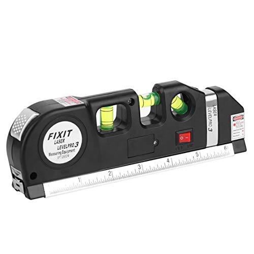 Instrumento de medición vertical horizontal con cinta métrica de 8 pies Viga vertical horizontal