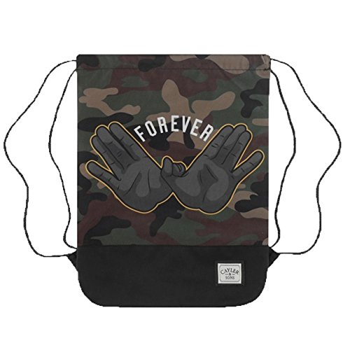 Cayler & Sons Gymbag FOREVER Black Woodland Yellow