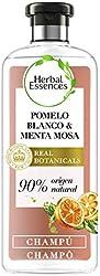 Herbal Essences bio:renew Champú para más volumen, Pomelo Blanco y Menta Mosa 400 ml, con ph neutro