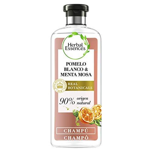 Herbal Essences bio:renew Champú para más volumen, Pomelo Blanco y Menta Mosa 400ml, con ph neutro e ingredientes naturales