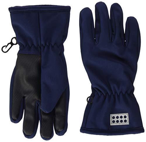 Lego Wear Jungen Lwantony Softshell Handschuhe, Blau (Dark Navy 590), 4.5 (Herstellergröße:110/116)