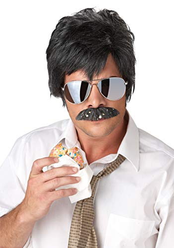 Adult Ace Detective Wig and Mustache Kit Standard
