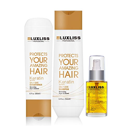 Luxliss Keratin Dailycare Shampoo And Conditioner Get 1 Argan oil Shine Mist worth Of 999 Rs (250ml/200ml)