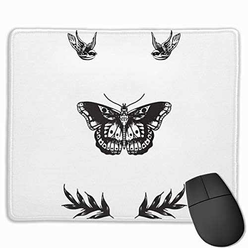 Harry Styles Tattoos Computer Mousepad Stitched Edge Laptop Gaming Mouse Pad 11.8'X9.8'