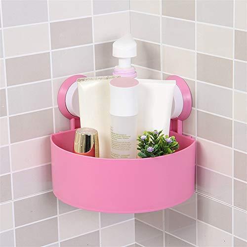 CaOJing Haushalt Triangular Wand Badezimmer Rack-Eckablauf Rack-Supersaughaushalt Rack Cup Lagerung Dusche Wandbehang Korbsinkzeit (Color : Pink)