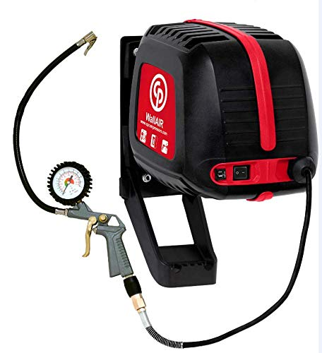 Chicago Pneumatic WALLAIR - Wall Mounted 1.5 HP Electric Air Compressor with a 32' Built in Retractable Hose 130 Max PSI