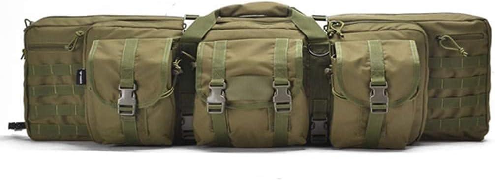 LSWKG Bolsa Táctica Funda para Arma ,Puede Sostener Sos Armas Largas,Acolchado con Correa de Hombro Bolsa de Transporte Vaina para Caza Disparando (Color : Army Green, Size : 93cm)