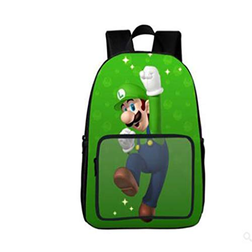 LIUHUIJUN Super Mario Schooltassen Verminderde Schoudertas Kinderrugzak 40 * 30 * 16CM Gewicht 450g