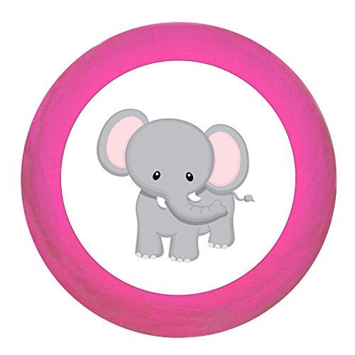 """Schrankgriff""""Elefant"""" pink Holz Buche Kinder Kinderzimmer 1 Stück wilde Tiere Zootiere Dschungeltiere Traum Kind"""