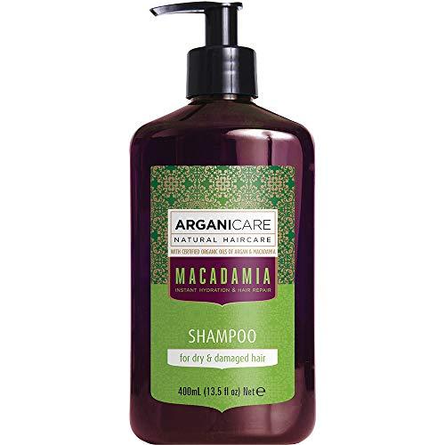 Arganicare Hydrating Macadamia Shampoo, for Dry and Damaged Hair with Organic Argan and Macadamia Oil (13.5 Fluid Ounce) by Arganicare