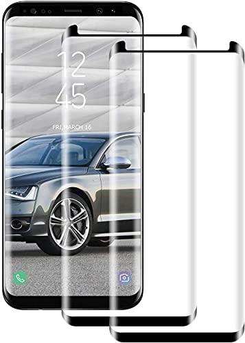 Cristal templado para Samsung Galaxy S8 [2 piezas] alta calidad 3D curvo...
