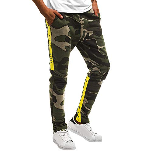 Celucke Herren Rangerhose Jogginghose Camouflage Slim Fit,Männer Skinny Bequem Sweatpants Herbst Winter Mode Freizeithosen