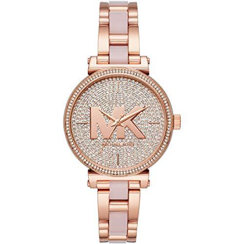 Michael Kors Reloj Analógico para Mujer de Cuarzo con Correa en Acero Inoxidable MK4336