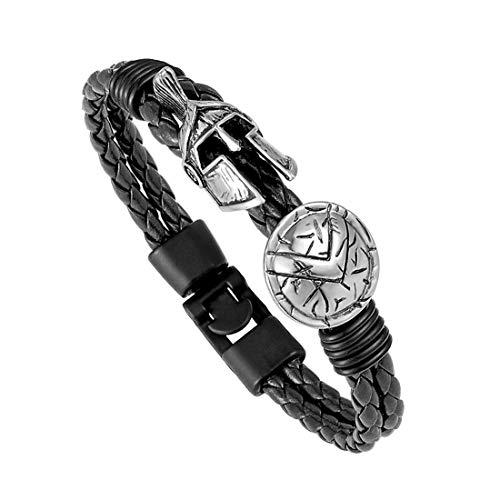 Preisvergleich Produktbild YIYIYYA Für Männer Und Frauen Mode Spartan Helmen Armbänder Armband Frauen Retro Tapfere Ritter Schwarz Seil Ventilator Mix