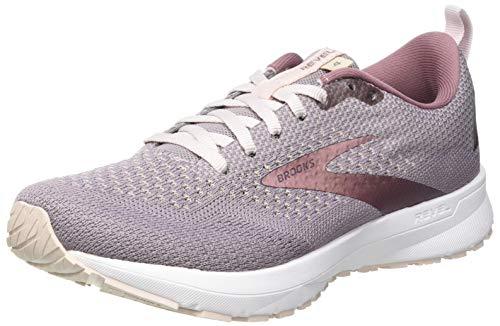 Brooks Revel 4, Zapatillas para Correr Mujer, Almond/Metallic/Primrose, 38 EU