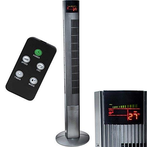 Syntrox Germany XXL Ventilatore a torre TFT-50W Torre ventilatore con telecomando, Timer e Oscillazione Ventilatore con piantana Ventilatore a Torre Macchina del vento Ventola ventola