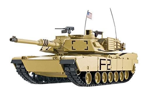 ES-TOYS 'RC Tank M1A2Abrams 1: 16Heng Long Smoke & Sound + Metal Gears And 2.4GHz