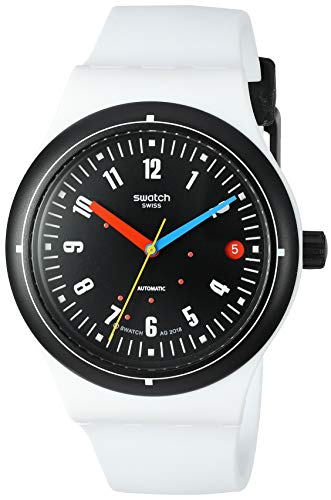 Swatch BAU Automatic Silicone Strap, White, 20 Casual Watch (Model: SUTW405)