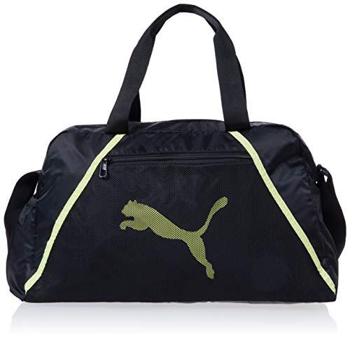 Puma Puma 077366 - Bolsa de deporte para mujer (talla única), color negro y amarillo