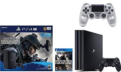 Newest Sony PlayStation 4 Pro 1TB Console Call of Duty: Modern Warfare Bundle W / DualShock Wireless Controller