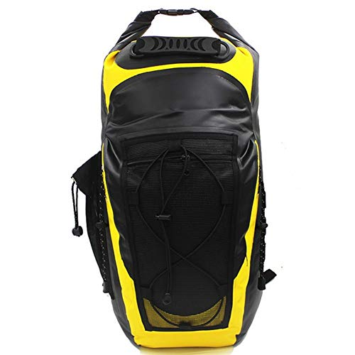 ZhiTianGroup 30L Waterproof Backpack bag Super Dry bag With Soft Back Side Pocket Nylon Strap Swimming River trekking Camping Outdoor (Color : Yellow Color, Size : 30~40L)