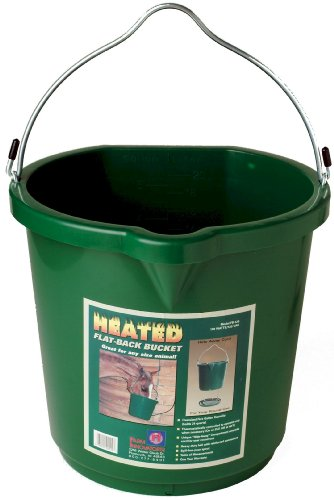 Farm Innovators 5-Gallon Flat-Back Heated Bucket (Additional Sizes and Styles Available)