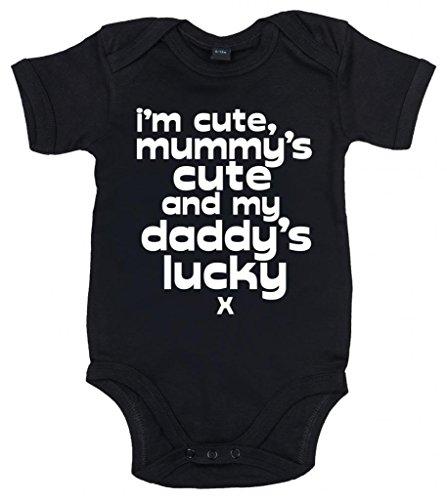 Image is Everything IIE, I'm Cute, Mummy's Cute and My Daddy's Lucky x, Body bébé garçon - Noir - XXXX-Small