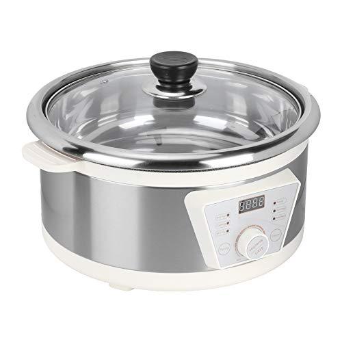 Slow Cooker 4 Liter Kochtopf für langsames Kochen, ABS, 1300 W, hohe Leistung, elektrischer Kocher mit integrierter Beschichtung, 30,5 x 19 cm (EU 220 V)
