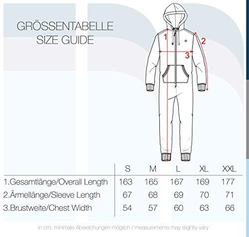 !Solid BennJump Herren Jumpsuit Sweat-Overall Onesie Mit Kapuze, Farbe:Dark Grey Melange (8288) - 5