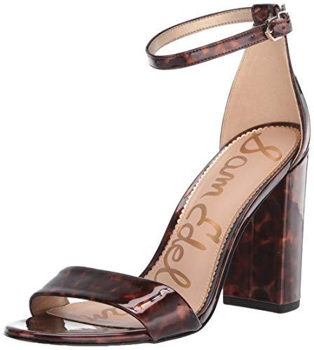 Sam Edelman womens Yaro Shoes Heeled Sandal, Black/Brown, 6.5 Wide US